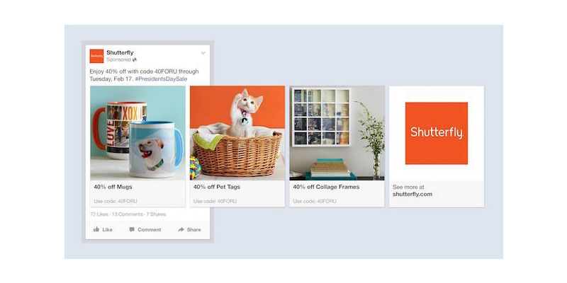 Facebook Introduces Product Ads