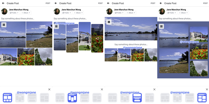 Facebook Tests New Photo Layout Options for Multi-Image Posts