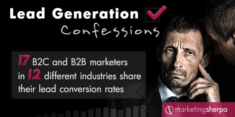 17 B2C and B2B marketers in 12 different industries share their lead conversion rates