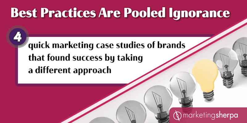 4 quick marketing case studies of brands that found success by taking a different approach