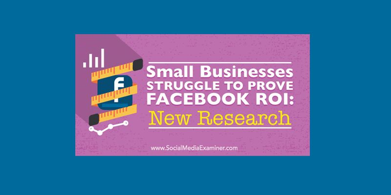 Small Businesses Struggle to Prove Facebook ROI: New Research