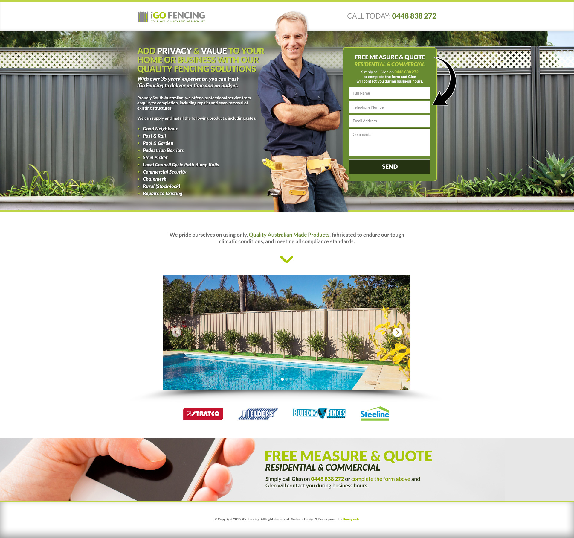 Check out the NEW iGo Fencing Landing Page Website Designed & Constructed by Honeyweb
