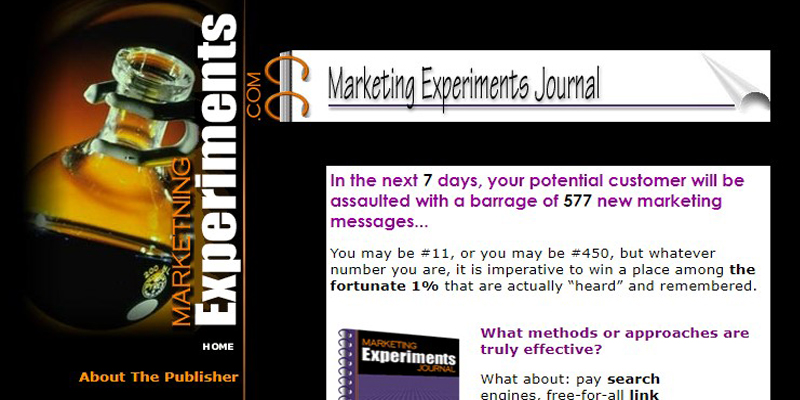 Most Popular Marketing Experiments Conversion Optimization A/B Testing And Value Proposition Content