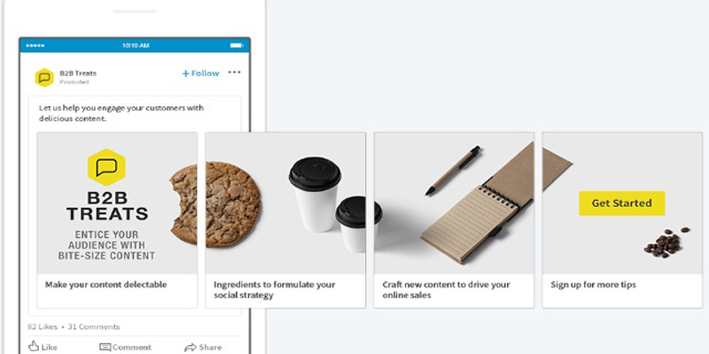 LinkedIn Adds Carousel Ads for Sponsored Content