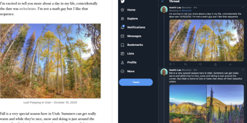 WordPress Adds Option to Publish Entire Blog Posts as Twitter Threads