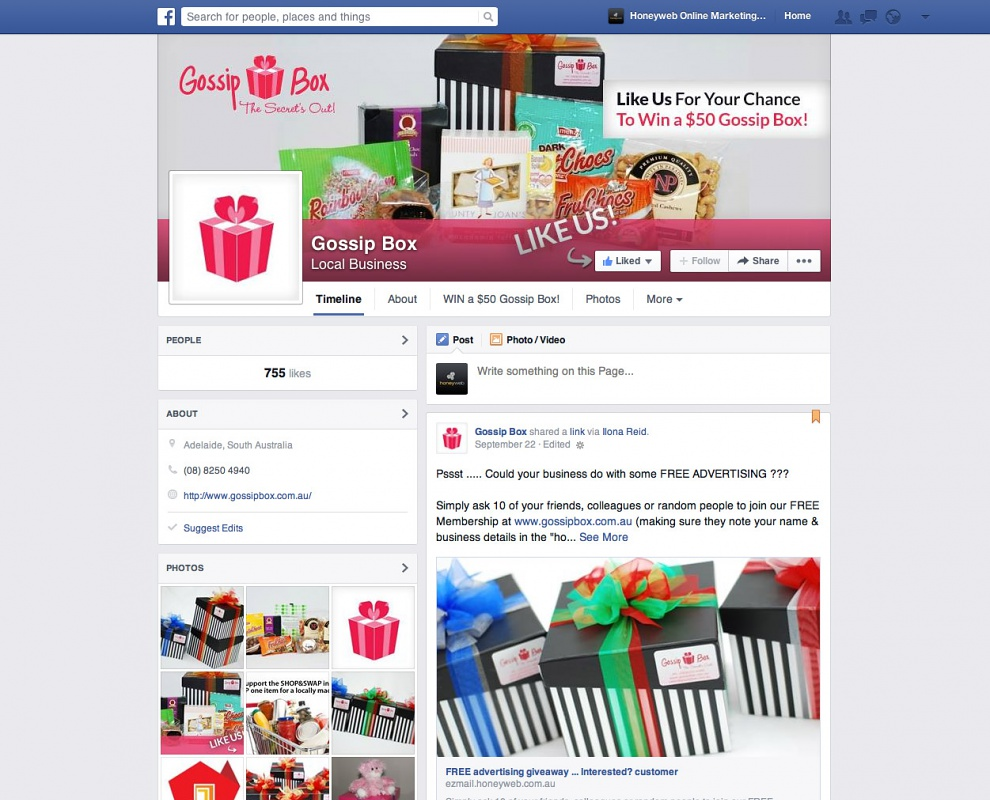 Gossip Box - Facebook Business Pages
