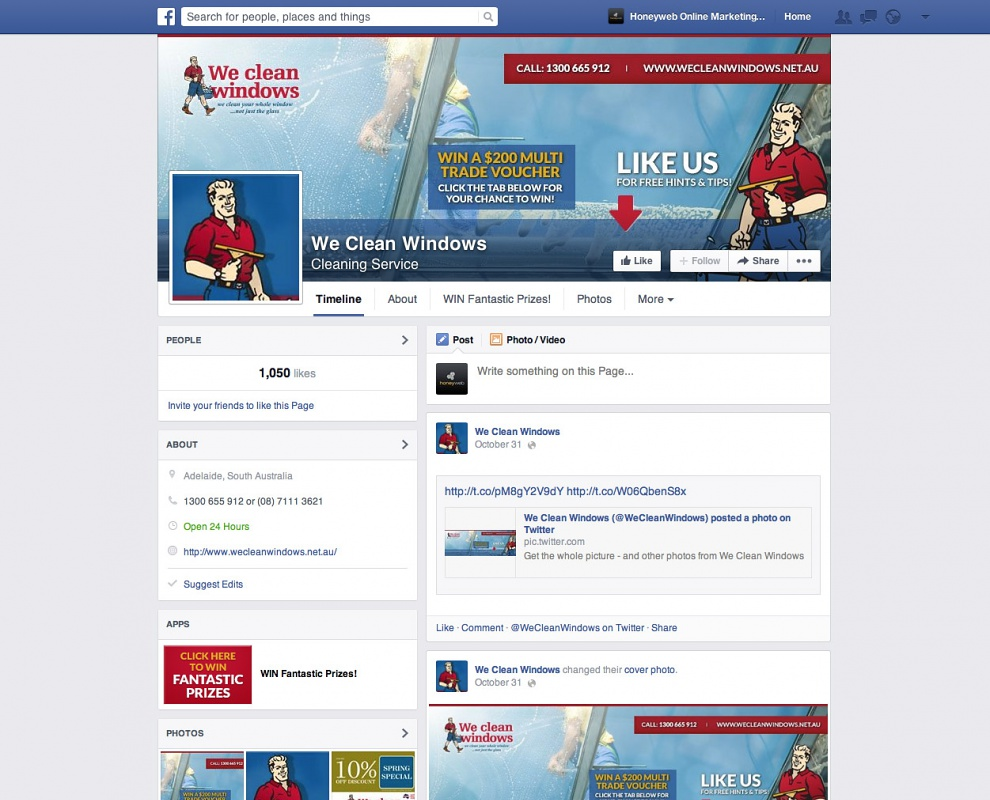 We Clean Windows - Facebook Business Pages