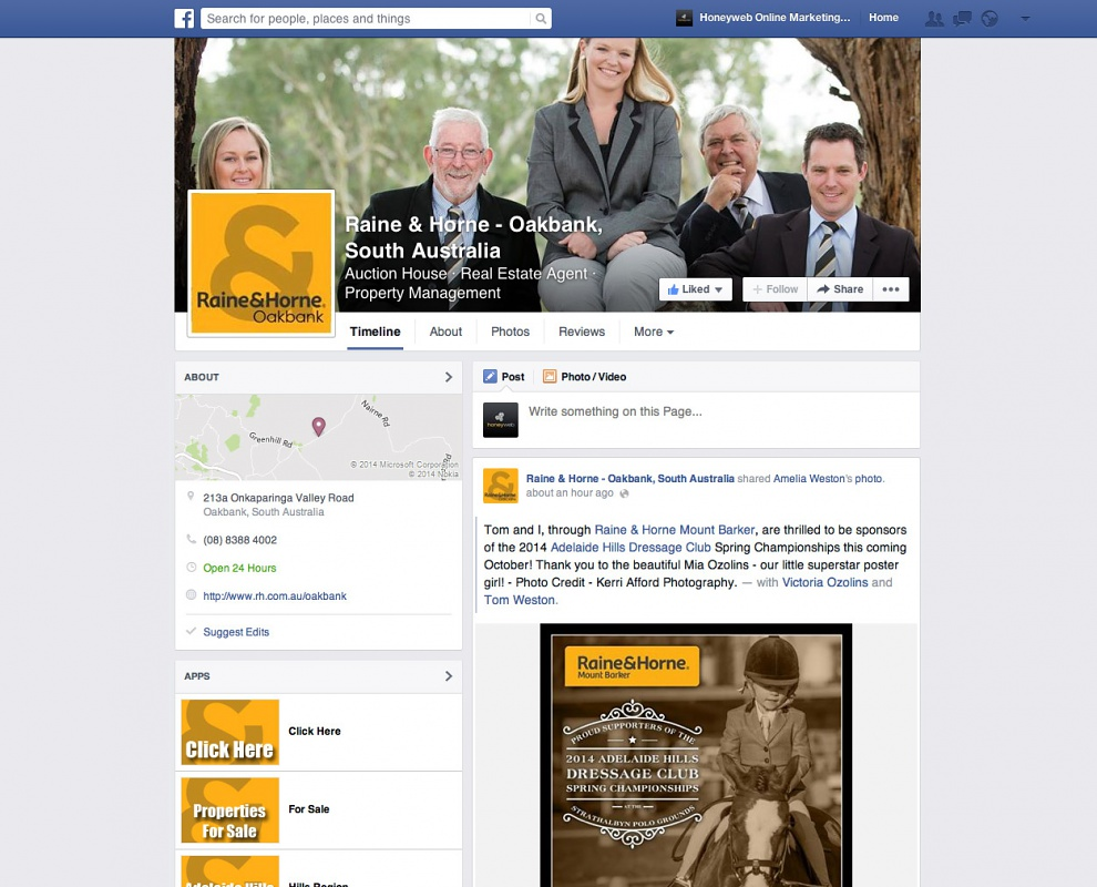 Raine & Horne - Oakbank - Facebook Business Pages