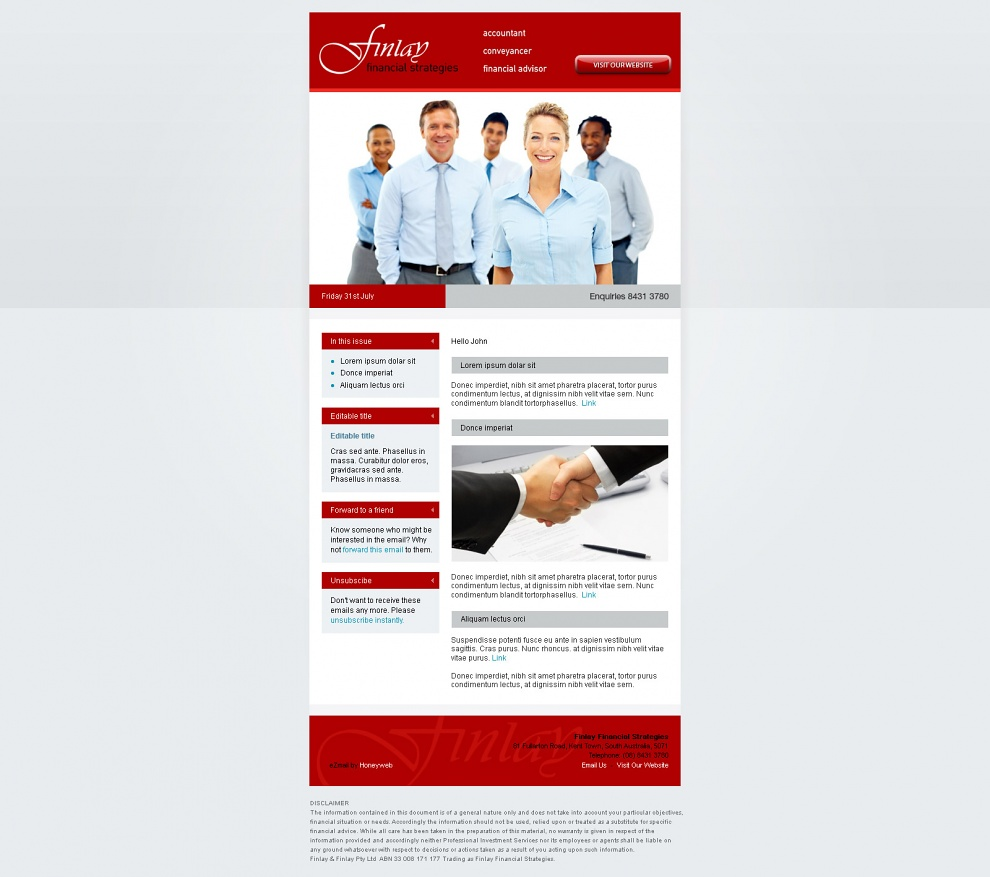 Finlay Financial Services - Email Marketing