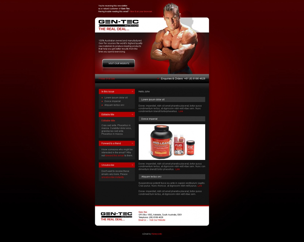 Gen-Tec Nutrition - Email Marketing