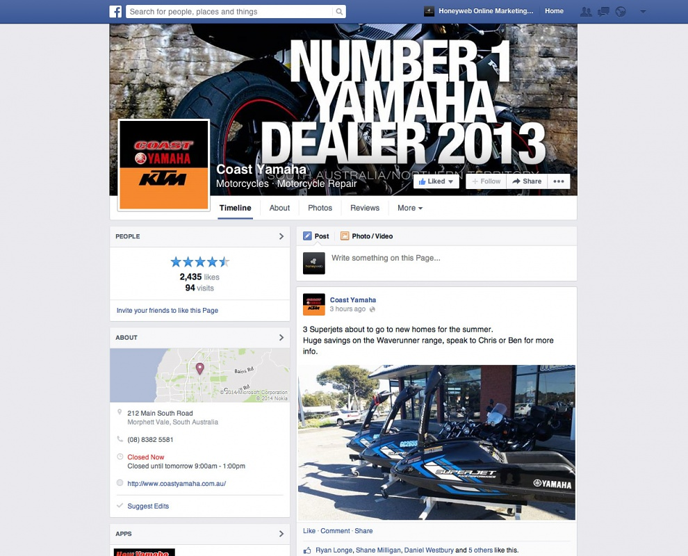 Coast Yamaha - Facebook Business Pages
