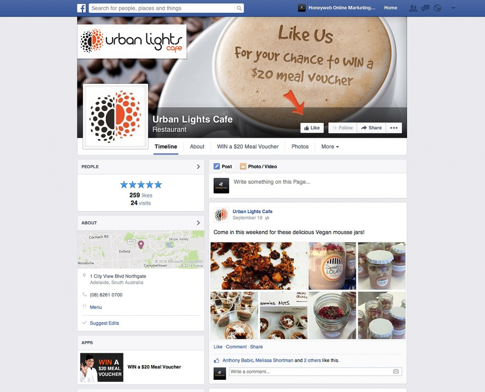 Urban Lights Cafe - Facebook Business Pages