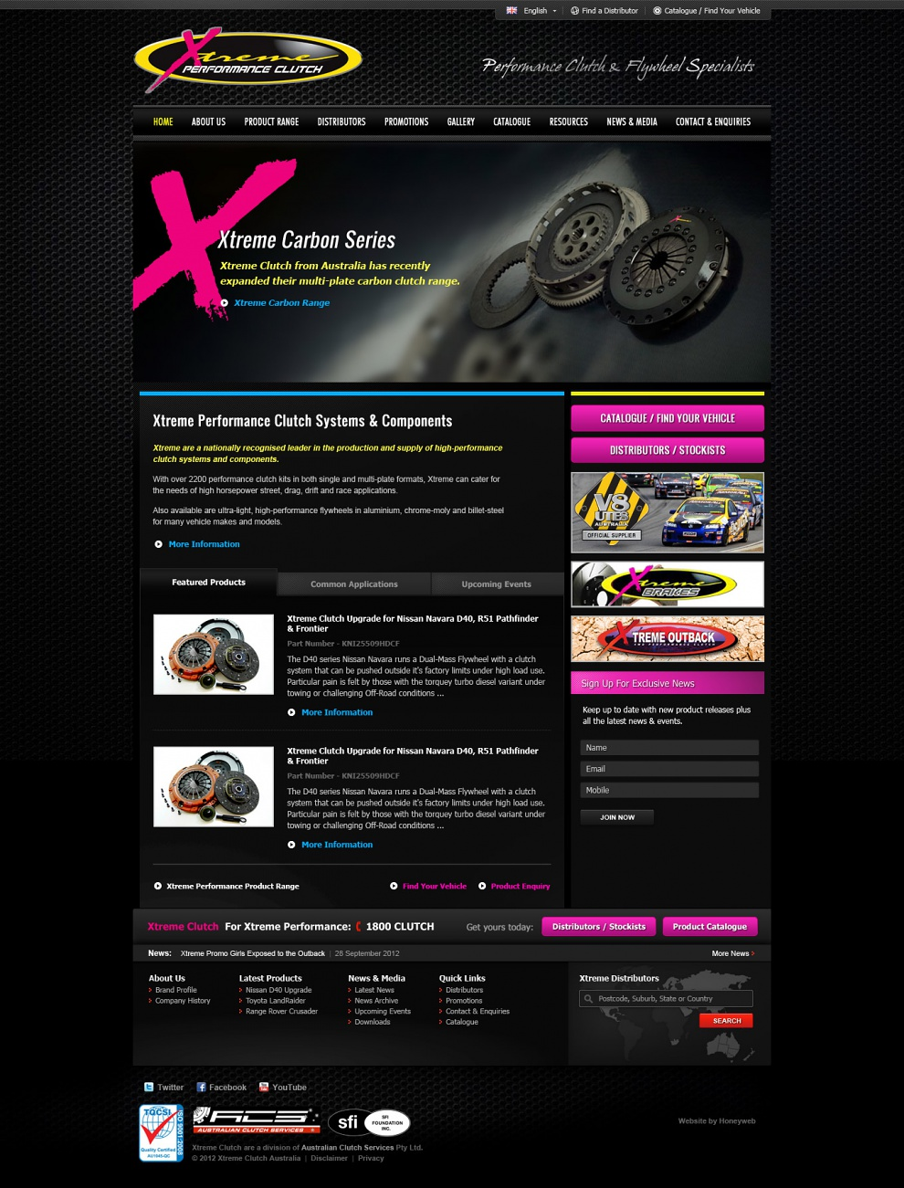 Xtreme Clutch - Website Design