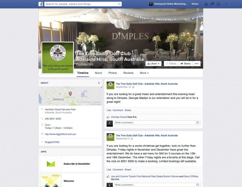 facebook business pages honeyweb online marketing. Black Bedroom Furniture Sets. Home Design Ideas