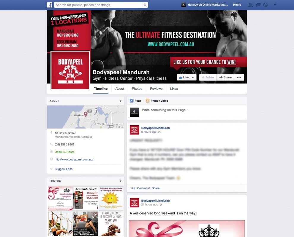 Bodyapeel Gym's - Facebook Business Pages