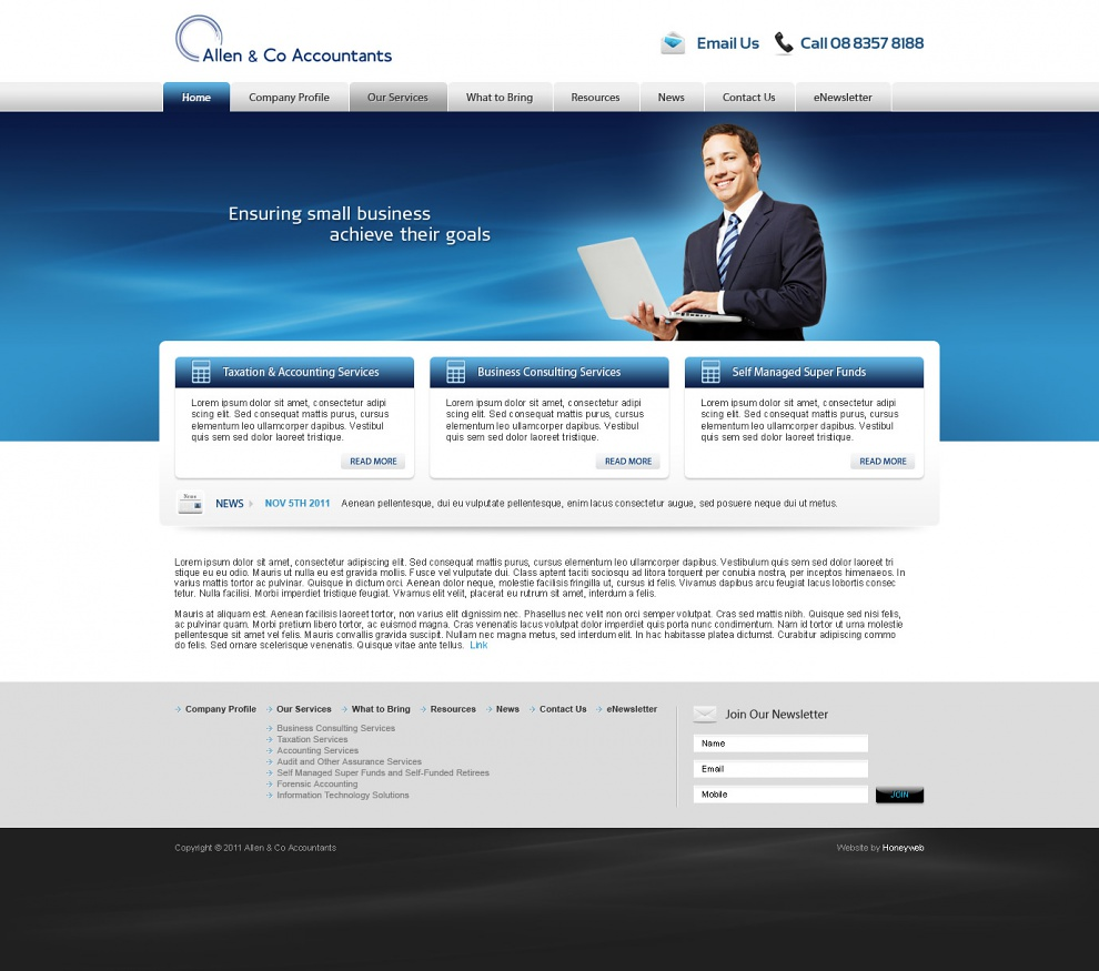 Allen & Co Accountants - Website Design
