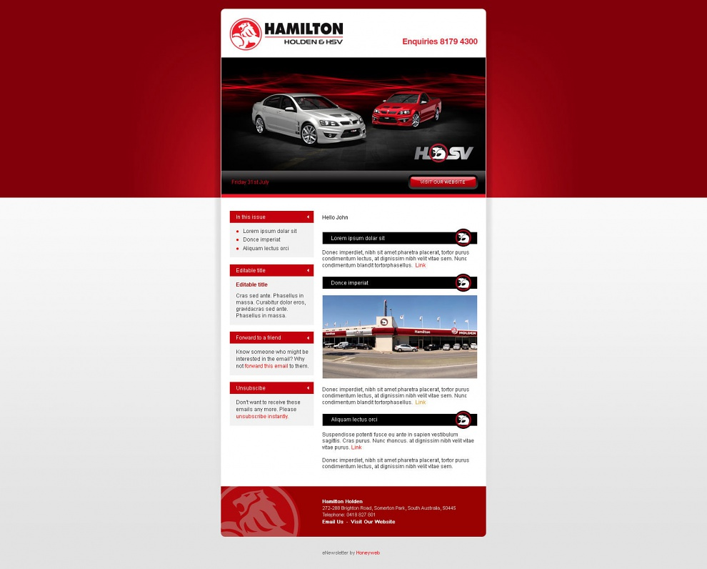 Hamilton Holden - Email Marketing