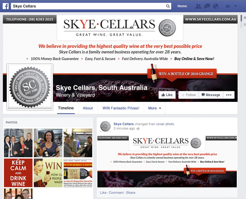 Skye Cellars - Facebook Business Pages
