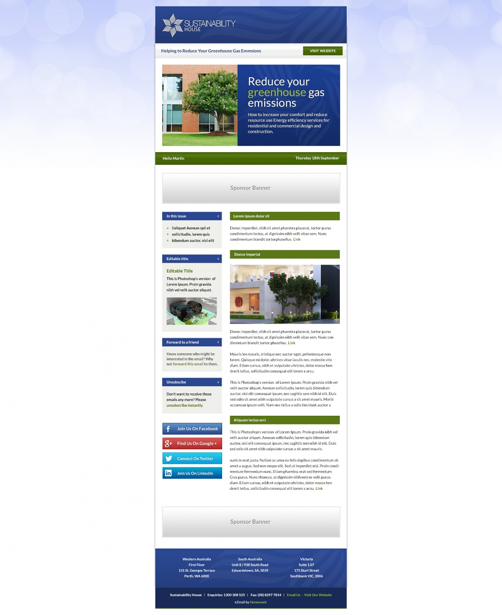 Sustainability House - Email Marketing